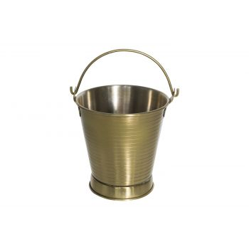 Cosy & Trendy French Fries Bucket 10x11cm Matt Gold