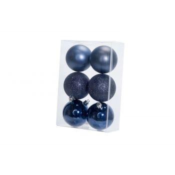 Cosy @ Home Xmas Ball Set6 Gray Blue Round Pvc 0x8xh