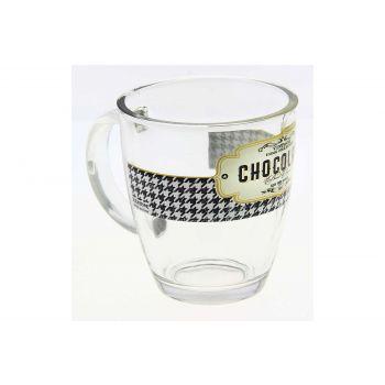 Cerve Retro Breakfast Mug In Glass 38cl
