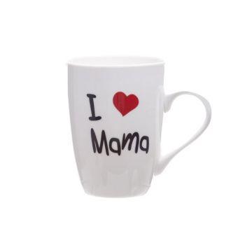 Cosy & Trendy Mug ' I Love Mama' 360ml D8,3xh10,5cm