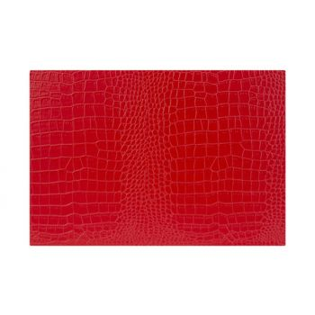 Cosy & Trendy Placemat Leather L. Red 43xh30cm