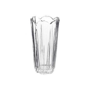 Bormioli Corolla Vase 23 Transparent Round Glass