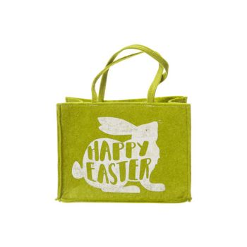 Cosy @ Home Carrier Bag Happy Easter Rabbit Green 25