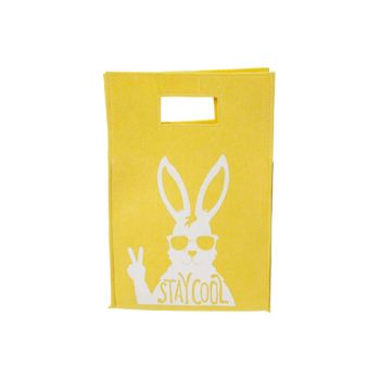 Cosy @ Home Deco Bag Stay Cool Rabbit Yellow 25,5x38
