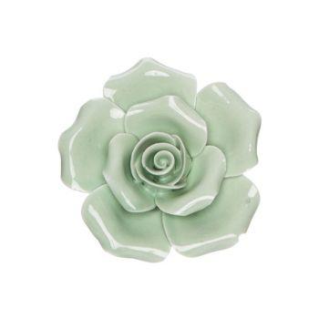 Cosy @ Home Flower Mint 6x6xh3cm Porcelain