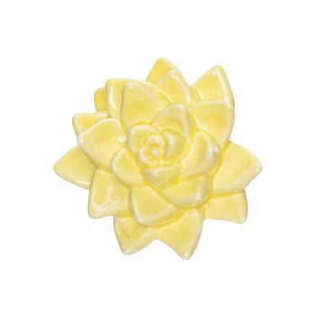 Cosy @ Home Flower Yellow 11x9,8xh5,5cm Porcelain