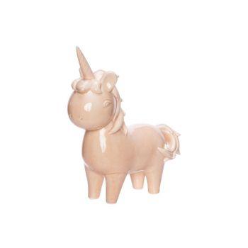 Cosy @ Home Unicorn Standing Pink 20x8xh22,5cm Porce