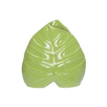 Cosy @ Home Vase Leaf Green 15x6,3xh15,3cm Porcelain