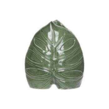 Cosy @ Home Vase Leaf Green 19,5x9,3xh22cm Porcelain