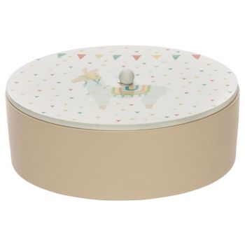 Cosy @ Home Box Lama Pink D16,5xh6,5cm Round Wood