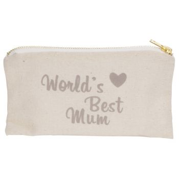 Cosy @ Home Toilet Bag Beige 19x11xh1,5cm Round Text