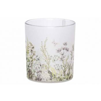 Cosy @ Home Tealight Holder Butterfly White 8,8x8,8x