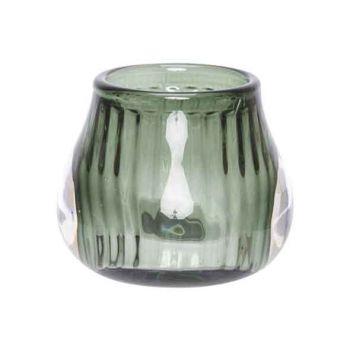 Cosy @ Home Tealight Holder Dark Green 8x8xh6,8cm Gl