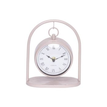 Cosy @ Home Clock Hanging Pink 16x8,5xh19,5cm Metal