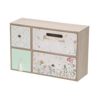 Cosy @ Home Closet Flower Pink 30x11xh20cm Rectangul