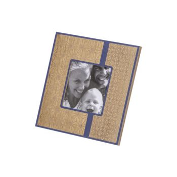 Cosy @ Home Photoframe Gold Blue 19x1,4xh19cm Square
