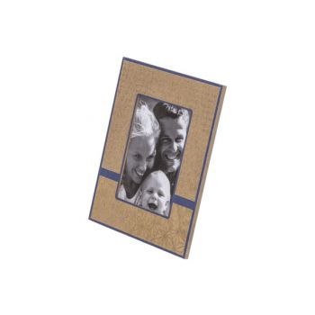 Cosy @ Home Photoframe Gold Blue 21,5x1,4xh26,5cm Re