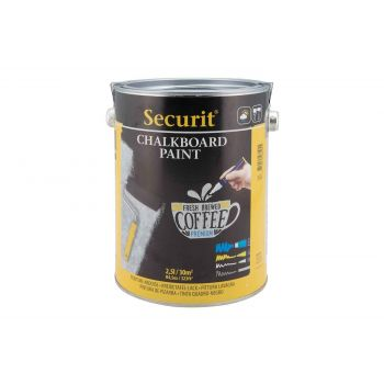 Securit Paint For Chalkboard Large Black 2.5l