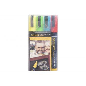 Securit Chalkmarker Set4 Liquid Multi-color