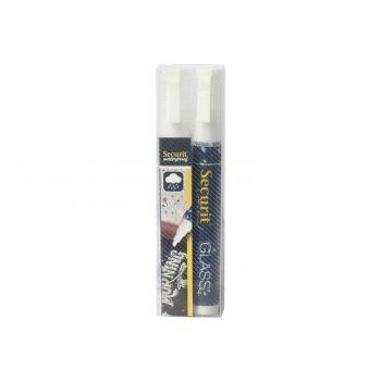 Securit Chalkmarker Set2 Waterproof Whtie