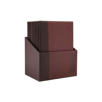 Securit Trendy 20x Menuholder In Box Burgundy A4