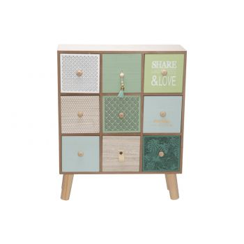 Cosy @ Home Closet Share Happiness Green 39,5x15,4xh