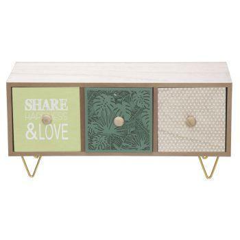 Cosy @ Home Cabinet Jungle Green 39,5x15,3xh19cm Woo