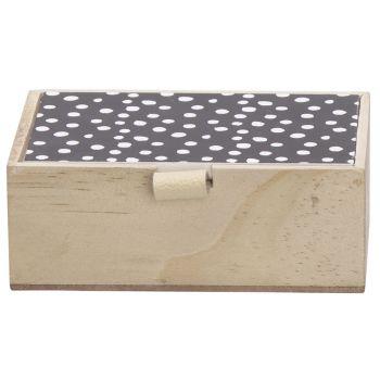 Cosy @ Home Box Black Lid Nature 14x10xh5cm Wood