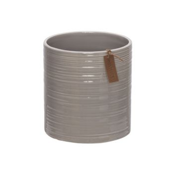 Cosy @ Home Flowerpot Nature Greige 12x12xh13cm Ston