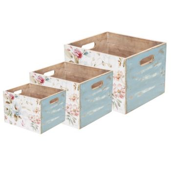 Cosy @ Home Storage Container  Set3 Flowers Pink