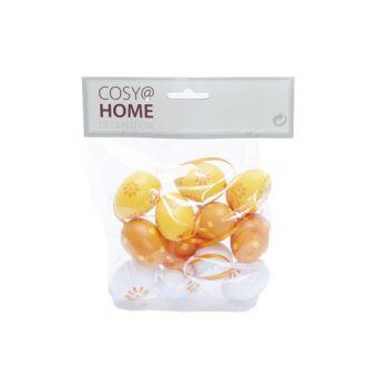 Cosy @ Home Easter Egg Set12 Mix Orange 4cm Syntheti
