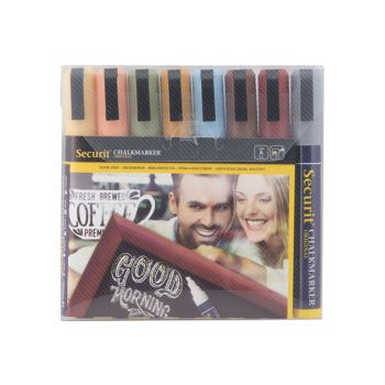 Securit Chalkmarker Set8 Liquid Multi-color