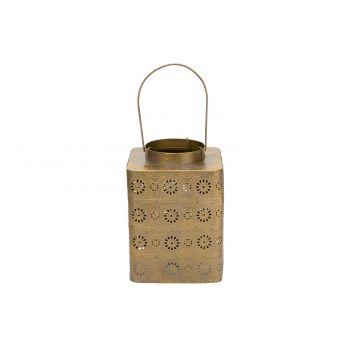 Cosy @ Home Lantern Antique Gold 15x15xh20,5cm Metal