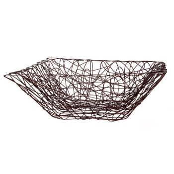 Cosy & Trendy 32.5x32.5x12cm Fruit Basket Iron Line Br