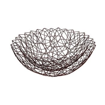 Cosy & Trendy 33x33x11cm Fruit Basket Iron Bronze Powd