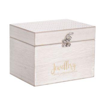 Cosy @ Home Box Flower White 16x13xh12cm Rectangular