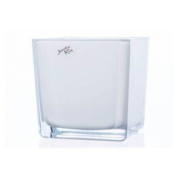 Sandra Rich Wind Light White 14x14xh14cm Glass