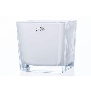 Sandra Rich Wind Light White 12x12xh12cm Glass