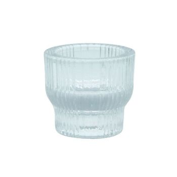 Sandra Rich Shine Stripes Candle Holder 5,5x5,5x4,9