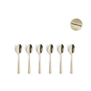 Amefa Retail Vintage Set 6 Mocca Spoons Champagne