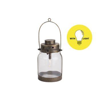 Cosy @ Home Lamp Lantern Gold 17x16xh26,5cm Metal