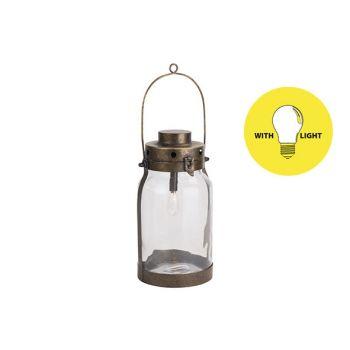 Cosy @ Home Lamp Lantern Gold 16,5x16,5xh32cm Metal