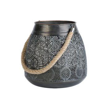 Cosy @ Home Lantern Maroc Antique Grey 25x25xh25cm R