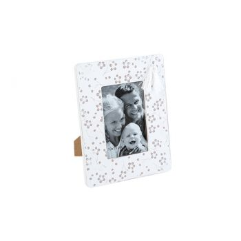 Cosy @ Home Photoframe Flower White 23,2x18,2xh1,3cm