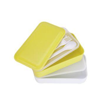 Cosy & Trendy Lunchbox 2pcs W. Strap Grey 2 Types 2x600ml