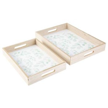 Cosy @ Home Tray Eucalyptus Set2 Nature 40x30xh5