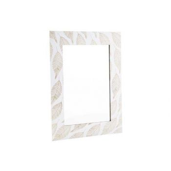 Cosy @ Home Mirror Leafs Nature White 40x30xh1cm Woo