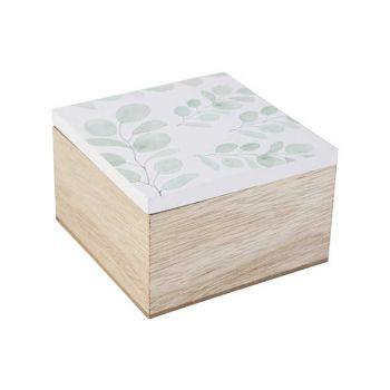 Cosy @ Home Box Eucalyptus White Nature 10x10xh6,5cm