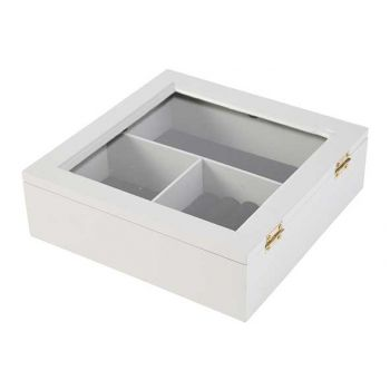 Cosy @ Home Jewellery Box Grey 20x20xh6,5cm Wood
