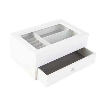 Cosy @ Home Jewellery Box White 24x17xh10,5cm Wood